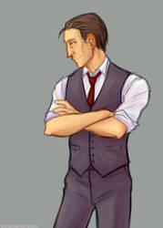 OCs: sharp-dressed man by simply-irenic