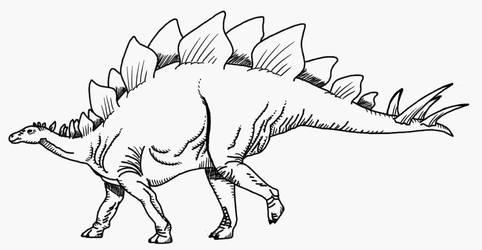 Stegosaure by Cousture