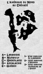 Amerique du Nord au Cretace by Cousture