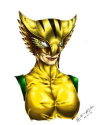 Hawkgirl - Color by Leuka727