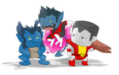 X-Men Chibis by Commikaze