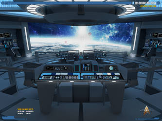 USS Theurgy NX-79854 Battle Bridge   Render-02 by Auctor-Lucan