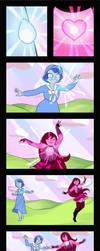 Commission - Peach fusion dance comic by Geminine-nyan