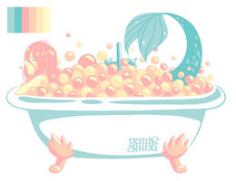 Mermay Day15 - Bathtub by Geminine-nyan