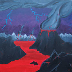 Lightning Volcano by Foxseye