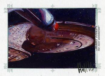 star trek tng 2 sketch card 15 by charles-hall