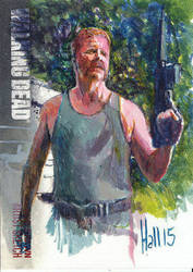 walking dead 2015 sketch card 19 by charles-hall