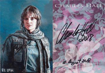 jyn sketch card by charles-hall