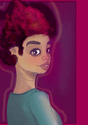 The Lady with the Afro by Anikin-Skyhugger