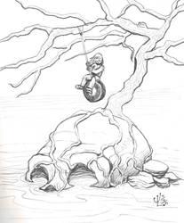 Skull Island - NOV '11 Sketch a Day 19 by JeremiahLambertArt