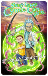 Rick and Morty STL Comic Con exclusive print by JeremiahLambertArt