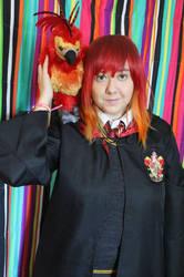 Ashelia Lilirin and Fawkes by CupcakeMassacreBear