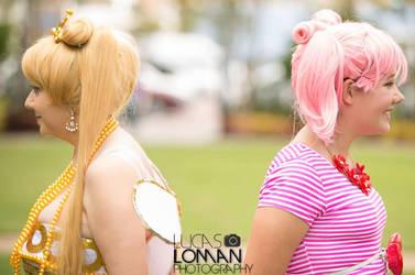 Princess serenity and Chibi usa by CupcakeMassacreBear