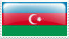 Azerbaijan Flag Stamp by Samirs