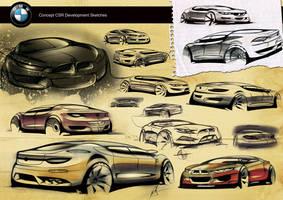 BMW concept CSR sketches by Samirs