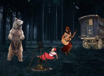 Dancing Bear WIP by dhbraley