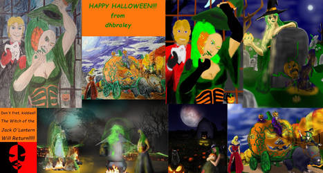 Happy Halloween-A Witch Collage by dhbraley