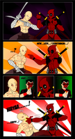 Deadpool Vs Deadpool by CrimsonFace