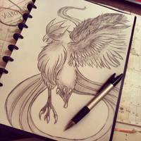 Articuno sketch by Abz-Art