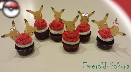 Pokemon Cupcakes: Pikachu by Emerald-Sakura