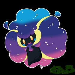 Pokemon Fusion - Cosmicott by The-Emerald-Otter