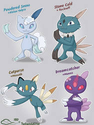 Sneasel Variants by The-Emerald-Otter