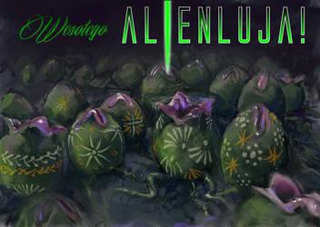 wesolego alienluja! (happy alienluia) by ikkiz