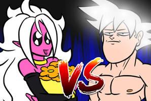Android21 VS Goku ultra instinct on YT by kish95