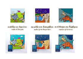 Labours of Hercules pins 4 by troutfishing
