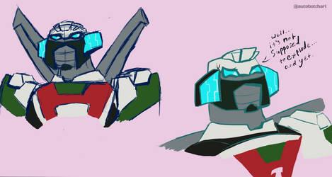 Wheeljack sketches by autobotchari