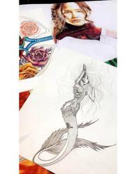 Mermaid tattoo design by MariaXXArt