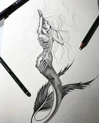 Mermaid tattoo by MariaXXArt