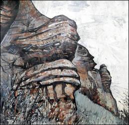 SIMFEROPOL. THE SPHINXES OF HAN-KAYA MOUNTAIN by Badusev