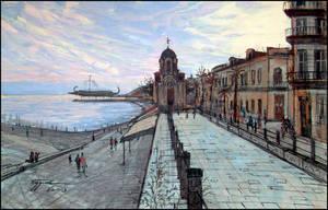 A WARM NOVEMBER EVENING IN YALTA by Badusev