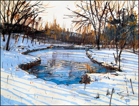 WINTER ON THE VORONTSOV PONDS by Badusev
