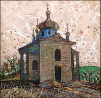 THE CHURCH OF THE INTERCESSION IN KASHTANOVOYE by Badusev