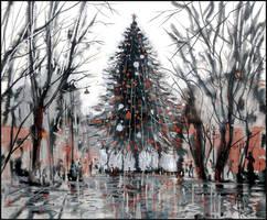 HAPPY NEW YEAR, SIMFEROPOL, CRIMEA, RUSSIA! by Badusev