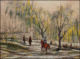 HORSEBACK RIDE IN VORONTSOV PARK IN SIMFEROPOL by Badusev