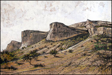 CRIMEAN GOTHIA. THE ROCKY CAPES OF BAKLA by Badusev