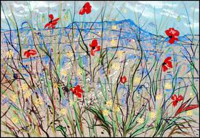 FLOWERING CRIMEA (EN-PLEIN-AIR SKETCH) by Badusev