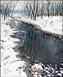 THE FIRST SNOW ON THE SALGIR'S BANKS by Badusev