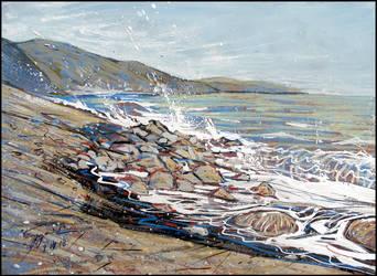 APRIL BEACH (EN-PLEIN-AIR SKETCH) by Badusev