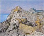 THE FORTRESS MOUNTAIN IN SUDAK by Badusev