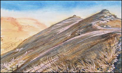 AT THE TOP OF PAHKAL-KAYA by Badusev