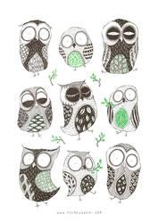 Spring Owls by TeemuJuhani