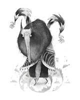 Inktober 08 - Wolf Shaman by TeemuJuhani