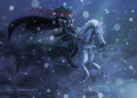 Hjordis The Silent Rider by mariposa-nocturna