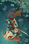 Underwater Red Moon by mariposa-nocturna