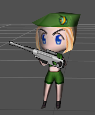 Chibi Sniper Low Poly by Yokkan