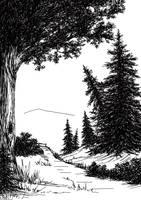Landscape sketch by Artkawa